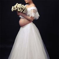 Maternity Skirts Lace Short Tops Pregnant Women Photography Dress Maternity Art Photo Photography Props Skirt