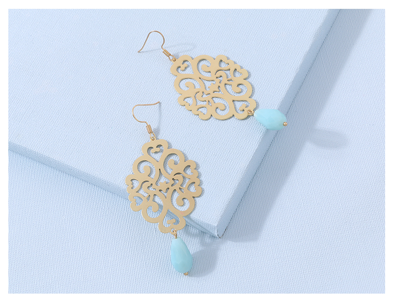 HTB1kA7ZseuSBuNjy1Xcq6AYjFXaK - Badu Gold Drop Earring Copper Hollow Out Women Vintage Dangle Earrings Sky Blue Crystal Pendant Fashion Jewelry