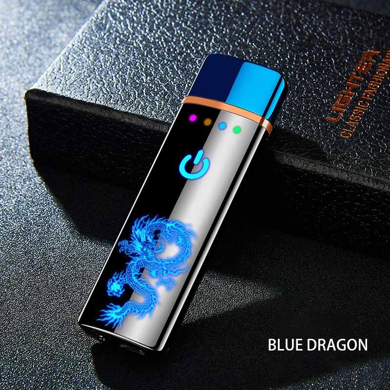Tungsteno Turbo USB toque Más ligero encendedor curvo Pantalla Completa cigarrillos para fumar electrónico encendedor pueden láser personalizado logotipo