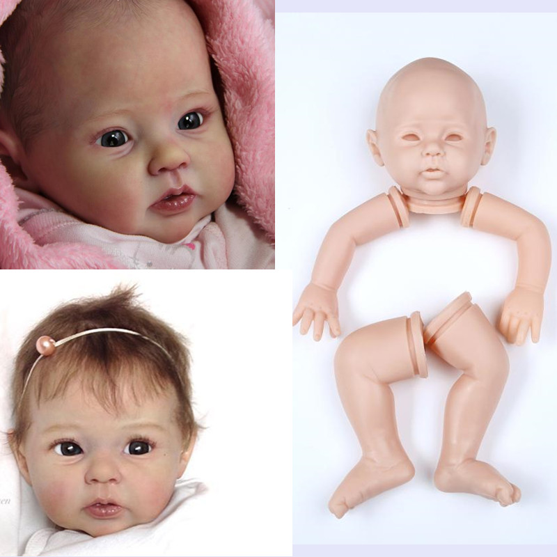 Silicone Mold Handmade Reborn Doll Girl unpainted blank doll kit 11/'/'