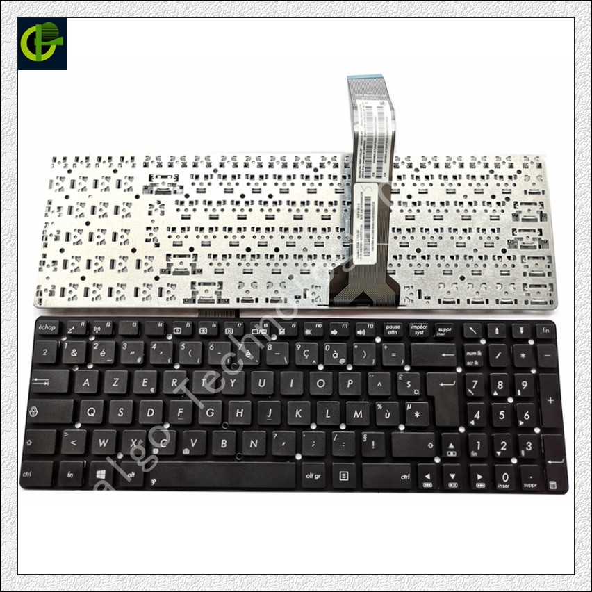 French Azerty <font><b>Keyboard</b></font> for <font><b>ASUS</b></font> K55 K55A K55N K55V <font><b>K55VJ</b></font> K55VM K55VD <font><b>K55VJ</b></font> K55VS K55XI K55DE K55DR A55 A55V FR image