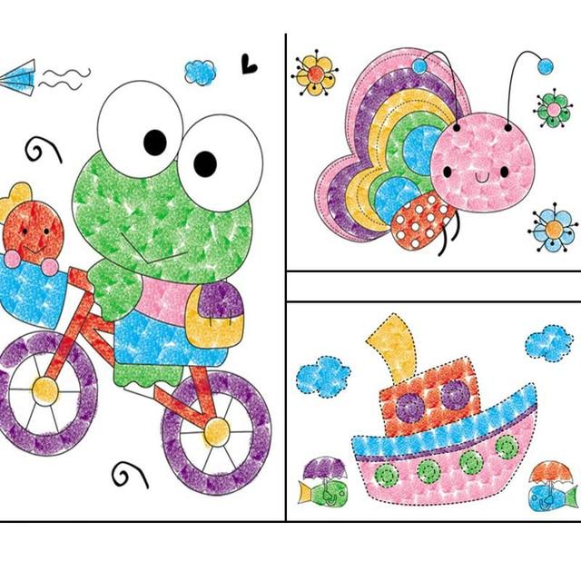 8 Unids Set Dibujos Animados Ninos Dedo Pintura Artesania Colorido