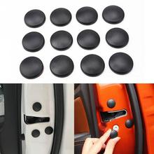 12Pcs Car Interior Door Lock Screw Protector Cover Anti Rust Cap Trim Stickers Car Door Lock Screw Protector Cover