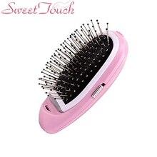 Ионная электрическая расческа для волос, портативная электрическая ионная расческа для волос с отрицательными ионами, модельная Магическая Расческа Для Волос