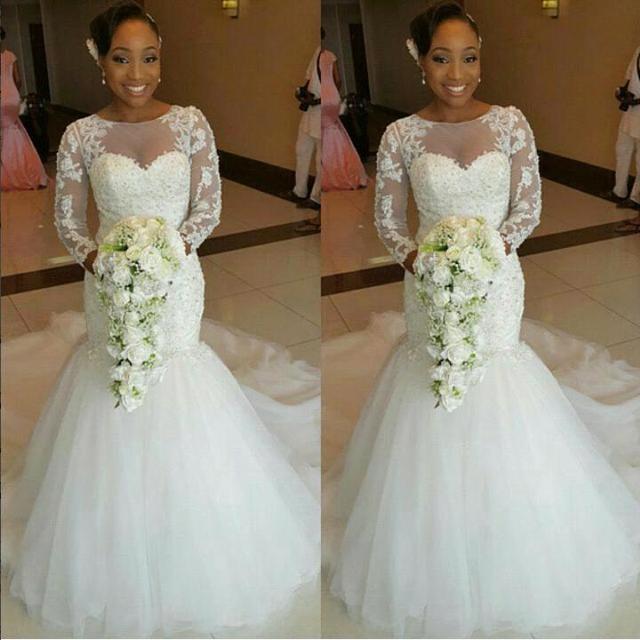 Vestidos de novia estilo sirena encaje