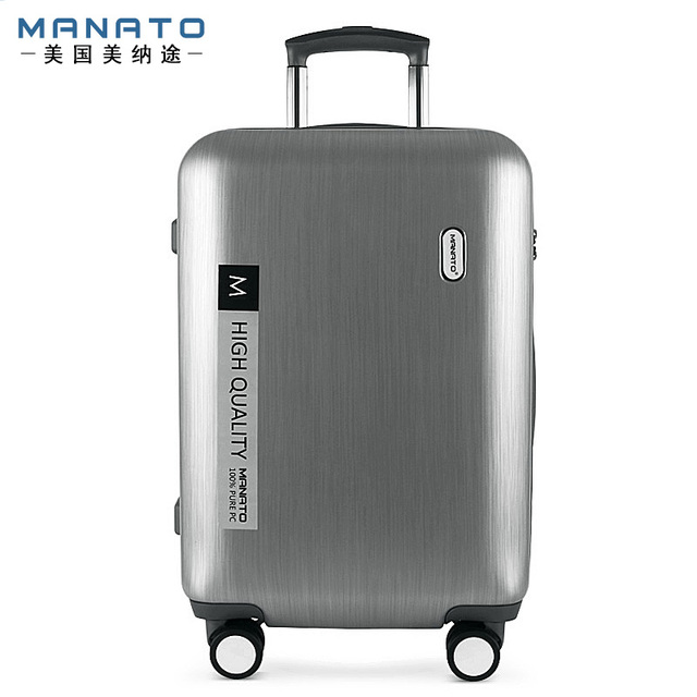 Manato Unisex Luggage Sets Trolley Travel Suitcase Password Lock PC Rolling Bagage Suitcase Hardside Luggage Carry Box 20 Inch