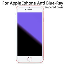 50pcs/lot Anti Blue-Ray Tempered Glass Screen Protector Film ForIphone 6 Plus 6S 7 8 X XS Max XR 11 pro Anti-blue light(China)