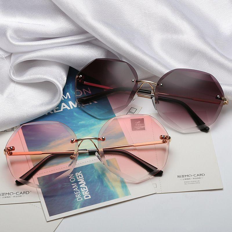 2019 Newest Cool Polygon Shaped Hexagon Fashion Women's Ocean Sheet UV Protection Eyewear Sun Glasses UV400