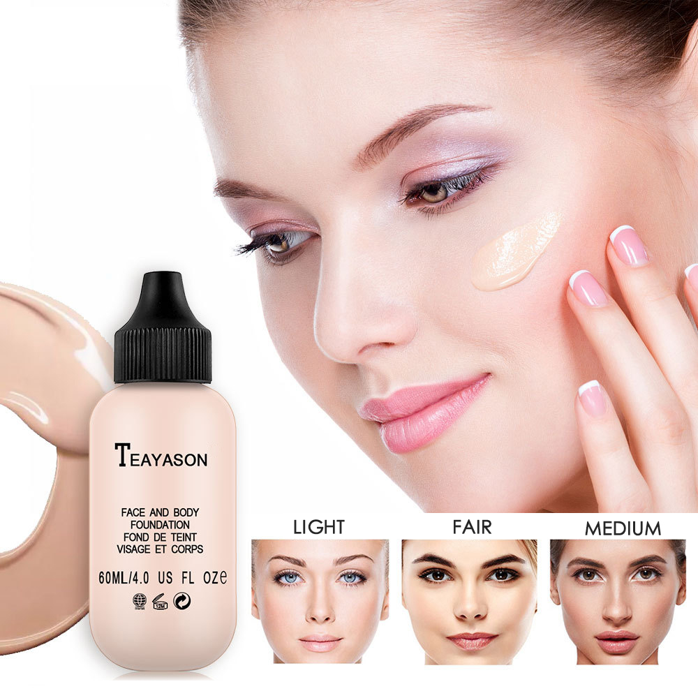 TEAYASON 6 Colors Matte Lasting Oil Control Concealer Cream Brighten Makeup Moisturizing Liquid Natural Face Foundation TSLM2