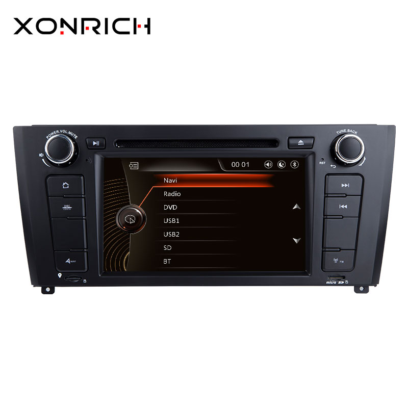Xonrich AutoRadio 1 Din Car DVD Player For BMW E87 BMW 1 Series E88 E82 E81 I20 GPS Navigation Multimedia Head Unit 3G DAB+ BT