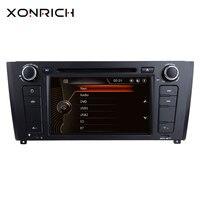 Xonrich 1 Автомобильный dvd плейер din для BMW E87 хэтчбеков BMW серий 1 E88 E82 E81 I20 gps навигации мультимедийное головное устройство 3g DAB + BT
