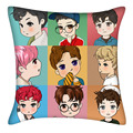 KPOP EXO álbum estilo suave bolster pillow Lay Baekhyun Chanyeol Sehun Hacer 40*40 cm