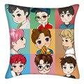 KPOP EXO album estilo macio reforçar travesseiro Lay Baekhyun Chanyeol Sehun Fazer 40*40 cm