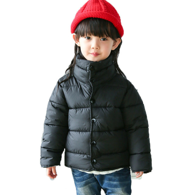Winter Jackets For Girls Boys Coat 2-8Y Children's Clothes Thick Boys Down Cotton Jacket Kids Outwear Casual Coat  Autumn SC408