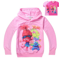 Girls Clothes Trolls Magic Cartoon Printed Tee Baby Boy Ruffle Raglan New Year Spring Summer T