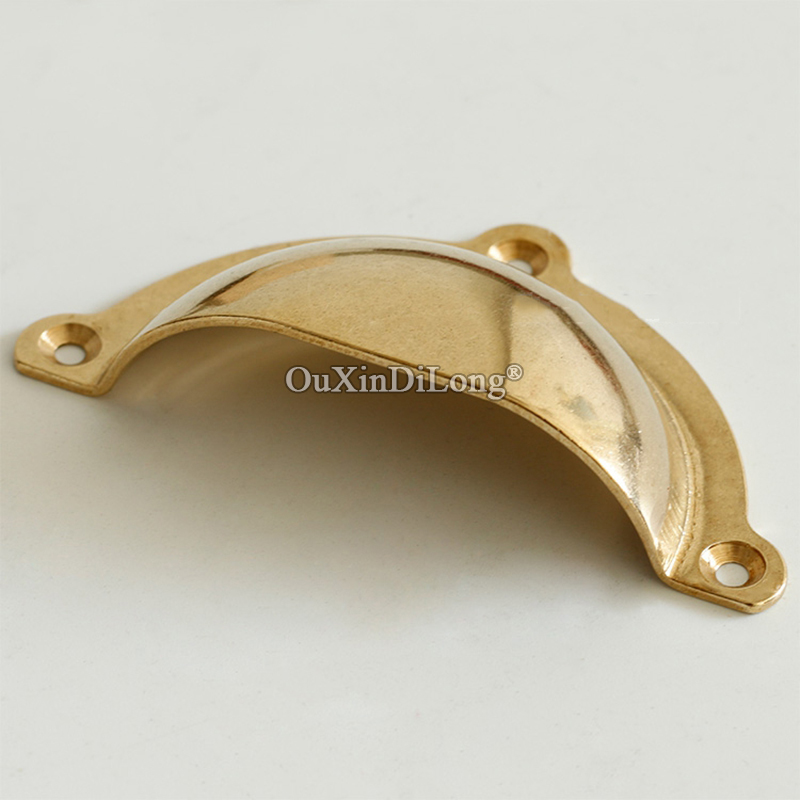 Retro 2PCS European Antique Brass Shell Furniture Handles Cupboard Wardrobe Drawer Dresser Box Cabinet Pulls Handles and Knobs in Cabinet Pulls from Home Improvement