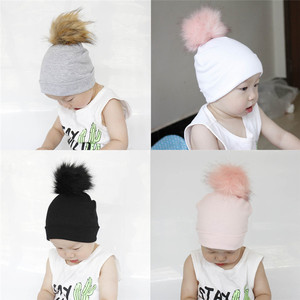 warm hat baby Cute Cartoon Dot Cotton Sleep Cap Headwear newborn baby clothes photography Hat Girls Boys baby accessories sombre(China)