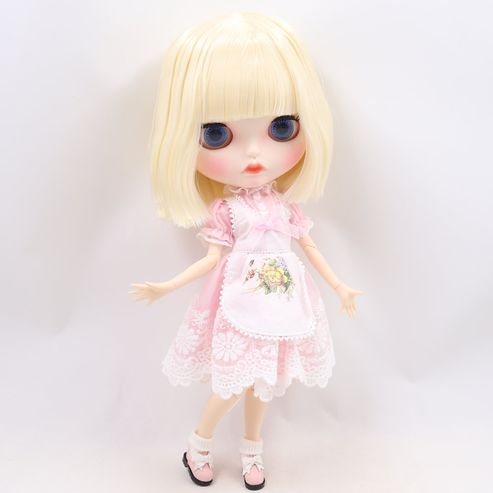 ICY Nude Blyth Doll No. BL0510 Blonde hair Carved lips Matte customized face  Joint body 1/6 bjd-in Dolls from Toys & Hobbies    1
