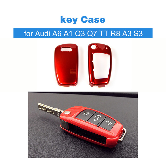 For Audi A6 A1 Q3 Q7 TT R8 A3 S3 ABS Auto Key Shell Cap Protection Cover key Case Car styling