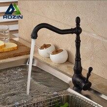Deck Mount Countertop Bathroom Kitchen Vanity Sink Faucet Single Handle Kitchen Hot Cold Water Taps