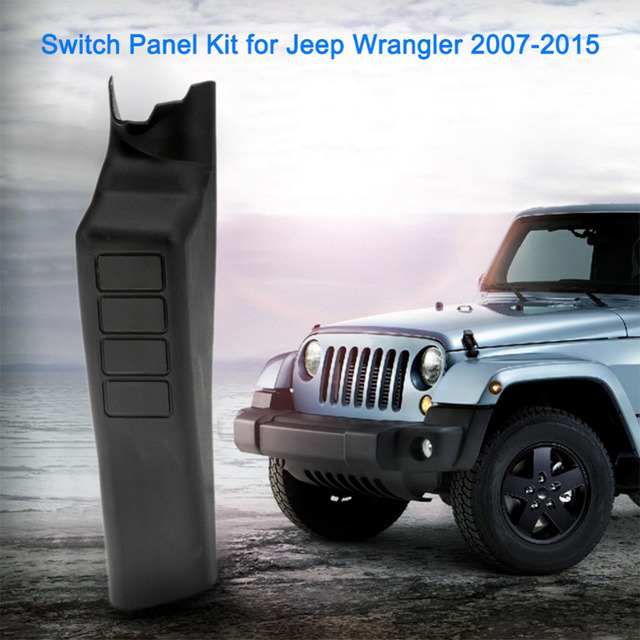 Left Hand A Pillar Switch Panel With 4 LED Rocker Switches For Jeep