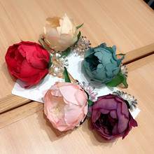 Korea  Super Shiny Colorful Big Flower Phone Hair Rope Elastic Bands Accessories Rubber Band Gum For Ties