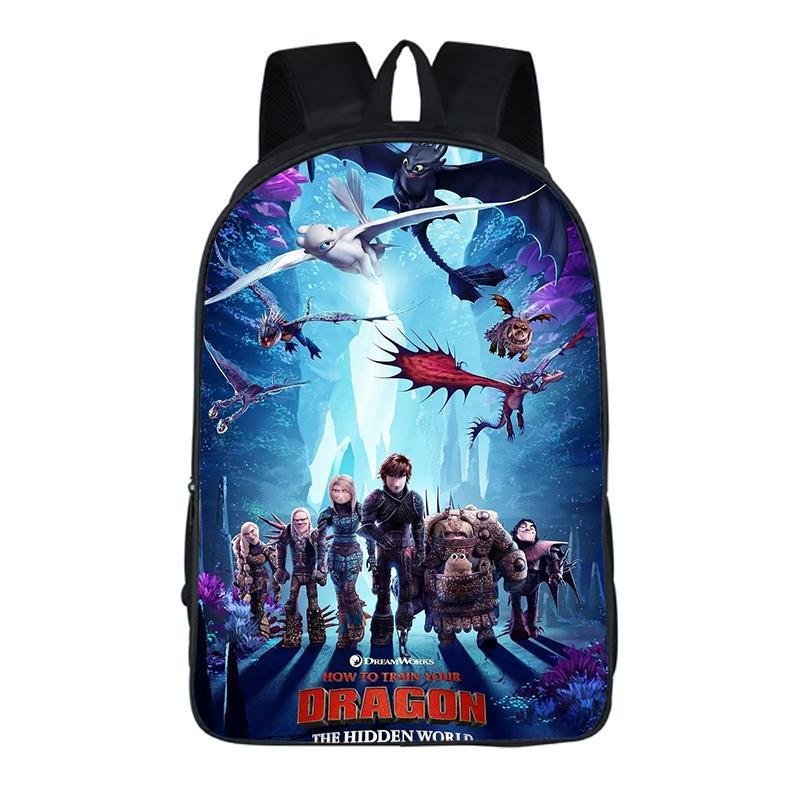 16 Inch Kids Backpack How To Train Your Dragon 3 Children School Bags For Boys Orthopedic Child Boy BookBag Knapsack Mochila