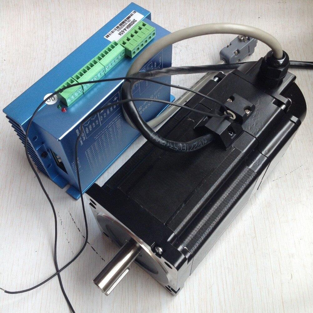 Livraison gratuite OK86STH115-6004BZBH1000 + 2HSS86H moteur pas à pas en boucle fermée 8.5N.m Nema 34 moteur pas à pas avec frein