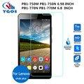Para lenovo phab plus vidrio templado protector de la pantalla 2.5 9 h película protectora de seguridad en pb1-750m pb1-770m pb1-770n pb1-750n cubre