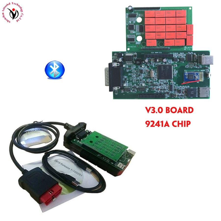 4 шт. DHL V3.0 зеленая доска Bluetooth nec Реле VD TCS CDP новый Vci программного обеспечения 2016,00 Бесплатная активировать для автомобиля грузовик инструмен...