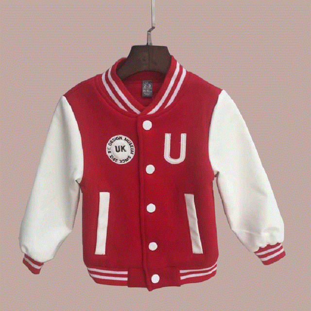 Spring Autumn 2019 Sport Boys Jacket Baseball Children School Uniform Jackets Baby Boy Coat Outwear Teenager Clothing Kids Coats