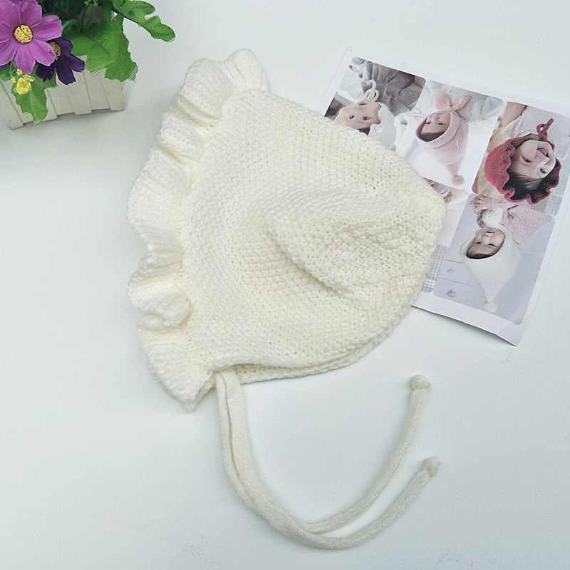 4a1d332ac65 ... Crochet panama Baby Girl crochet hat Flowers baby Winter cap Flower  Beanie Toddler hats for Kids ...