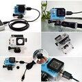 Esporte acessórios da câmera à prova d' água caso shell carregador com cabo usb para sjcam sj4000 wifi sj7000 soocoo c30 h9 para motocycle