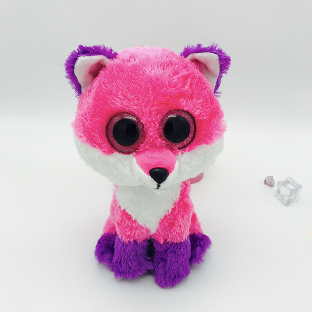 KAWO 25cm Plush Animal Doll Toy Ty Beanie Boos Big Eyes Unicorn Foxy  Tortoise Dinosaur Kids Toy Children Birthday Christmas Gift e00725d54e95