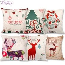 Veselé vánoční povlaky na dekorační polštáře