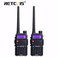 2pcs Retevis RT 5R Walkie Talkie Radio 128CH VHF UHF Dual Band Ham Radio Amador Hf