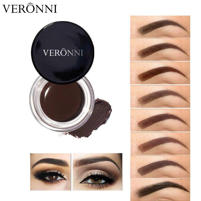 New 8 Color Eyebrow Gel Makeup Natural Pigmented Brown Eye Brow Enhancer Cream Tint Tattoo Waterproof Long Lasting Cosmetics