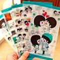 5 UNID accesorios herramientas de álbum de fotos de BRICOLAJE, Corea Del sur diario adhesivos decorativos, hip-hop chica, dulce pareja pegatinas