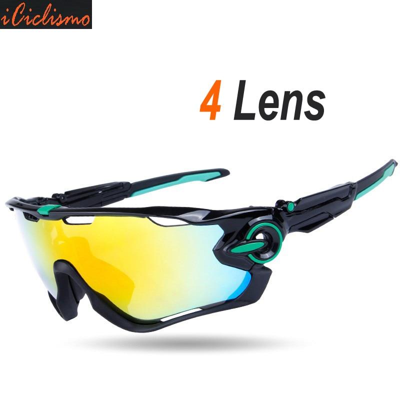 Prix pour Polarisées Vélo lunettes de Soleil 2017 4 lentille Vélo Lunettes Lunettes UV400 VTT Sport Vélo Lunettes gafas ciclismo hommes femmes