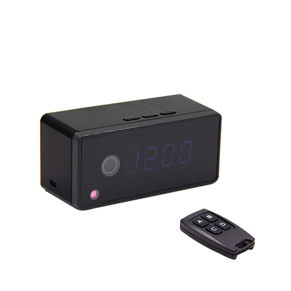 Volemer Clock Camera Alarm Setting 720P HD H.264 IP Mini Kamera Night Vision Table Clock Camera Video Cam Mini DV DVR Camcorder