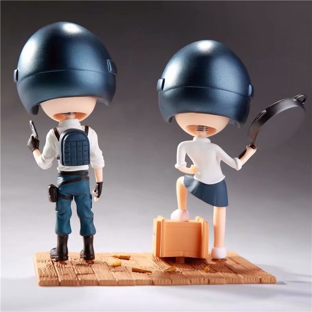 2pcs/set Game Playerunknowns Battlegrounds PUBG Character Q Version Figures Toys Birthday Gift no retail box (Chinese Version) 1