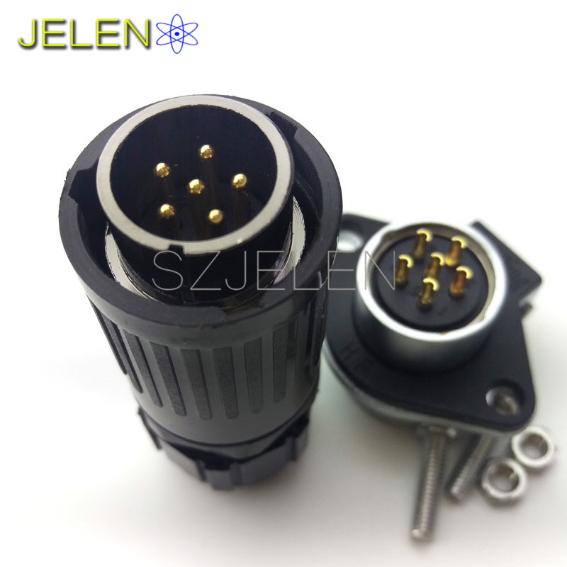 HE20,Connector Waterproof 6 pin, automotive electrical wire connectors, automotive connector,LED connector 6 pin sy1710 6 pin power connector 6 pin waterproof plug male 6 pin socket female led power connectors automotive connectors