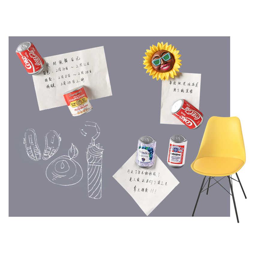 Creative מזון מקרר מגנטי מדבקות קולה, צ 'יפס, פופקורן, בורגר הודעה דקורטיבי מגנטים לבית/משרד ילד מתנה