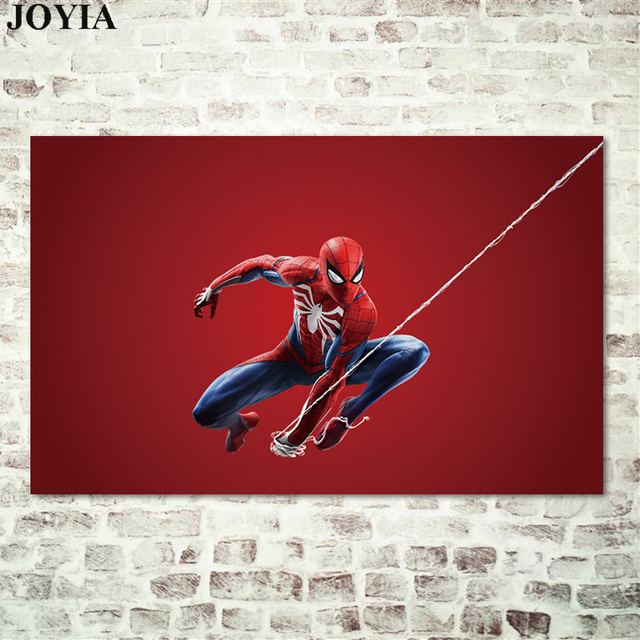 Game Poster Spider Man 2018 PS4 Superhero Art Prints Spiderweb New ...