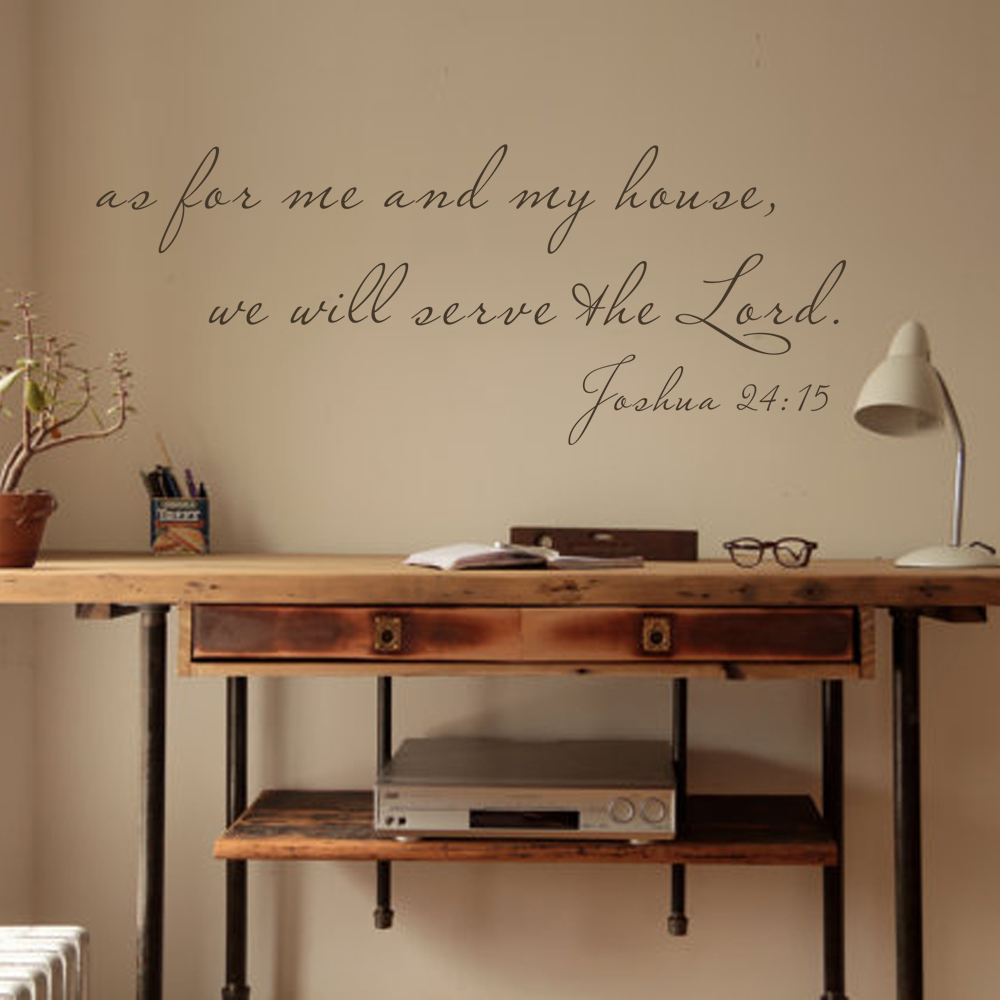 scripture wall decal as for me and my house bible verse decal quote