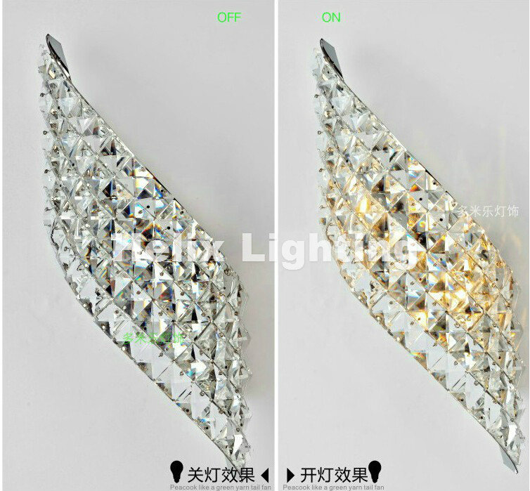LED Crystal Wall Lamps Wall Sconce Modern LED Crystal Lamp Light with 2L Home Indoor Outdoor Lighting Decoration Free Shipping mirror high quality k9 crystal led wall lamp sconce post modern coffee shop decatarion lighting fixture indoor wall lamps abajur