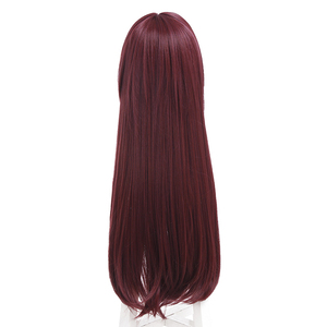 Image 5 - L email wig Game Fate Grand Order Lancer Scathach Cosplay Wigs Long Straight Heat Resistant Synthetic Hair Perucas Cosplay Wig