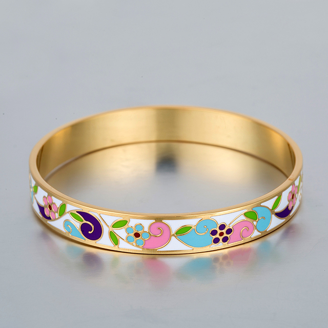 Gold Plated Bangles Famous Brand Jewelry Love Bracelet For Women Stainless Steel Vintage Luxury Indian Bangles Pulseira Feminina