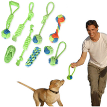 Dog Chew Rope Toys Puppy Cotton Knot Toy Molar Tooth Cleaning Colorful Pet Bite Combination Set for Small Medium Large Dogs