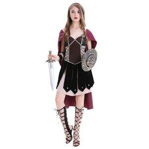 Image 2 - Volwassen Vrouwen Middeleeuwse Rome Zina Warrior Princess Kostuum Halloween Carnaval Party Cosplay Romeinse Sparta Gladiator Jurk